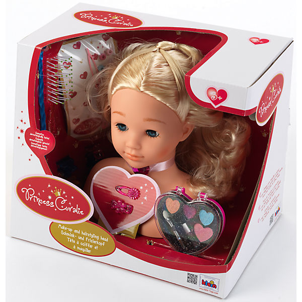 Small princess Coralie Make up and Hair Mannequin, medium + CD small