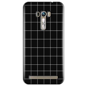 ASUS Zenfone Selfie Mobile Covers Cases Black with White Checks - Lowest Price - Paybydaddy.com