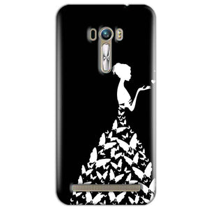 ASUS Zenfone Selfie Mobile Covers Cases Butterfly black girl - Lowest Price - Paybydaddy.com