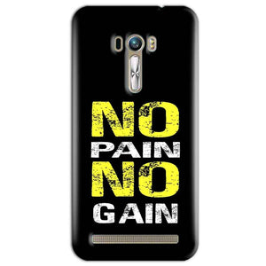 ASUS Zenfone Selfie Mobile Covers Cases No Pain No Gain Yellow Black - Lowest Price - Paybydaddy.com