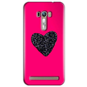 ASUS Zenfone Selfie Mobile Covers Cases Pink Glitter Heart - Lowest Price - Paybydaddy.com