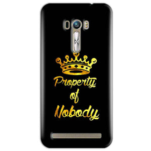 ASUS Zenfone Selfie Mobile Covers Cases Property of nobody with Crown - Lowest Price - Paybydaddy.com