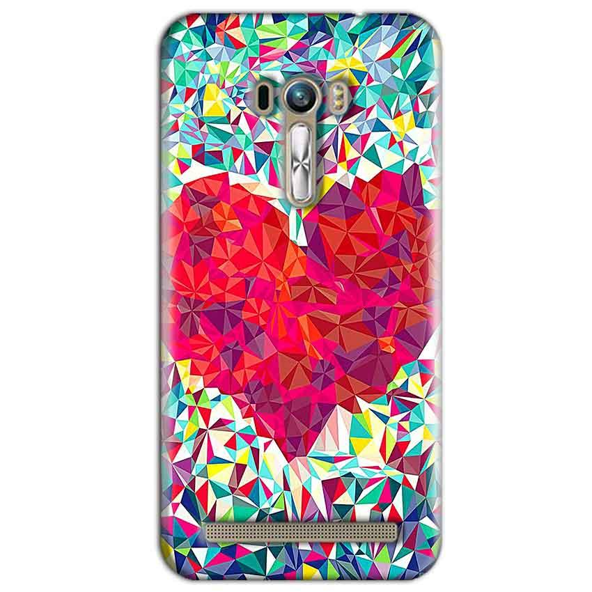 ASUS Zenfone Selfie Mobile Covers Cases heart Prisma design - Lowest Price - Paybydaddy.com