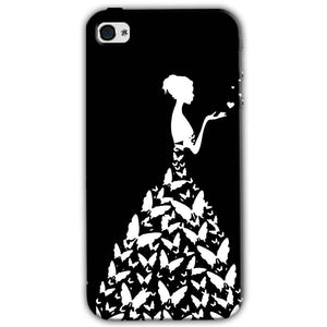 Apple iPhone 4 Mobile Covers Cases Butterfly black girl - Lowest Price - Paybydaddy.com