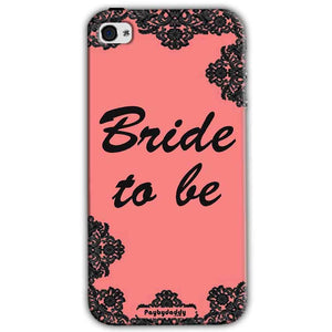 Apple iPhone 4 Mobile Covers Cases Mobile Covers Cases bride to be with ring Black Pink - Lowest Price - Paybydaddy.com