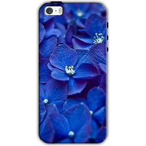 Apple iPhone SE Mobile Covers Cases Blue flower - Lowest Price - Paybydaddy.com