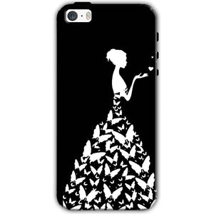 Apple iPhone SE Mobile Covers Cases Butterfly black girl - Lowest Price - Paybydaddy.com