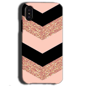 Apple iPhone X Mobile Covers Cases Black down arrow Pattern - Lowest Price - Paybydaddy.com
