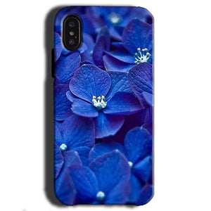 Apple iPhone X Mobile Covers Cases Blue flower - Lowest Price - Paybydaddy.com