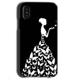 Apple iPhone X Mobile Covers Cases Butterfly black girl - Lowest Price - Paybydaddy.com