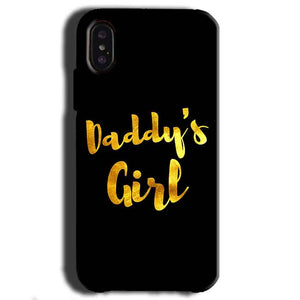 Apple iPhone X Mobile Covers Cases Daddys girl - Lowest Price - Paybydaddy.com
