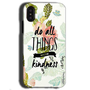 Apple iPhone X Mobile Covers Cases Do all things with kindness - Lowest Price - Paybydaddy.com