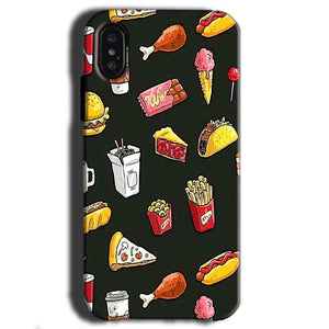 Apple iPhone X Mobile Covers Cases Foodie Design - Lowest Price - Paybydaddy.com