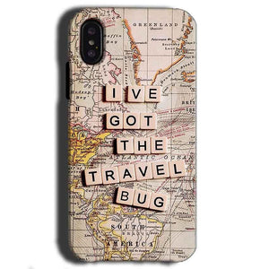Apple iPhone X Mobile Covers Cases Live Travel Bug - Lowest Price - Paybydaddy.com