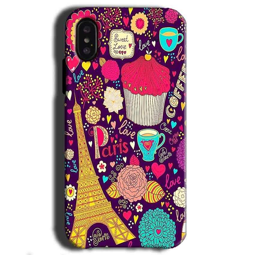 Apple iPhone X Mobile Covers Cases Paris Sweet love - Lowest Price - Paybydaddy.com