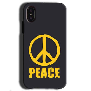 Apple iPhone X Mobile Covers Cases Peace Blue Yellow - Lowest Price - Paybydaddy.com