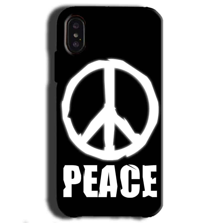 Apple iPhone X Mobile Covers Cases Peace Sign In White - Lowest Price - Paybydaddy.com
