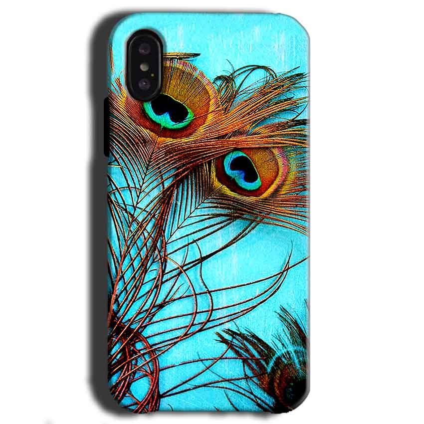 Apple iPhone X Mobile Covers Cases Peacock blue wings - Lowest Price - Paybydaddy.com