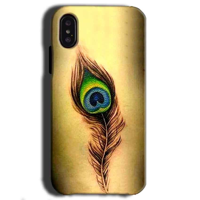 Apple iPhone X Mobile Covers Cases Peacock coloured art - Lowest Price - Paybydaddy.com