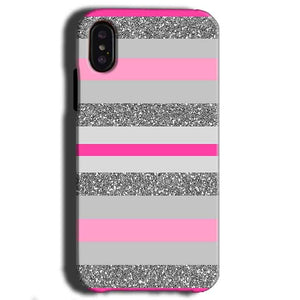 Apple iPhone X Mobile Covers Cases Pink colour pattern - Lowest Price - Paybydaddy.com