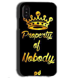Apple iPhone X Mobile Covers Cases Property of nobody with Crown - Lowest Price - Paybydaddy.com