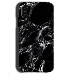 Apple iPhone X Mobile Covers Cases Pure Black Marble Texture - Lowest Price - Paybydaddy.com