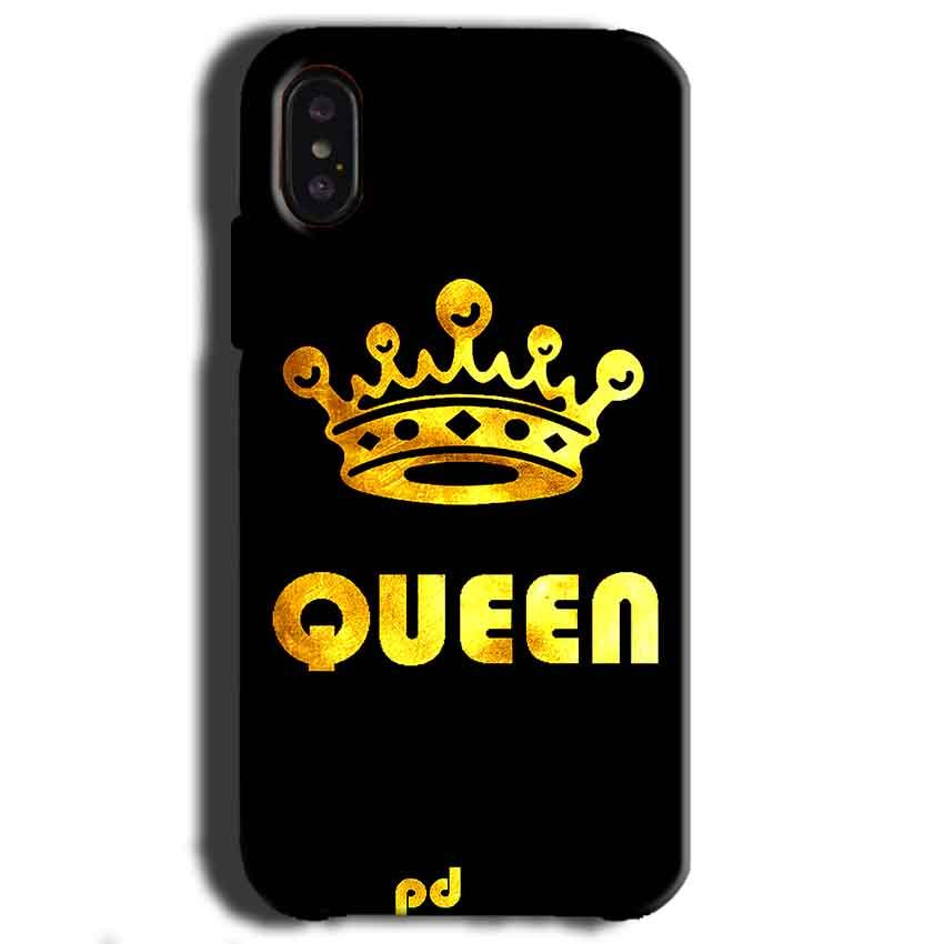 Apple iPhone X Mobile Covers Cases Queen With Crown in gold - Lowest Price - Paybydaddy.com