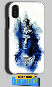 Apple iPhone X Mobile Covers Cases Shiva Blue White - Lowest Price - Paybydaddy.com