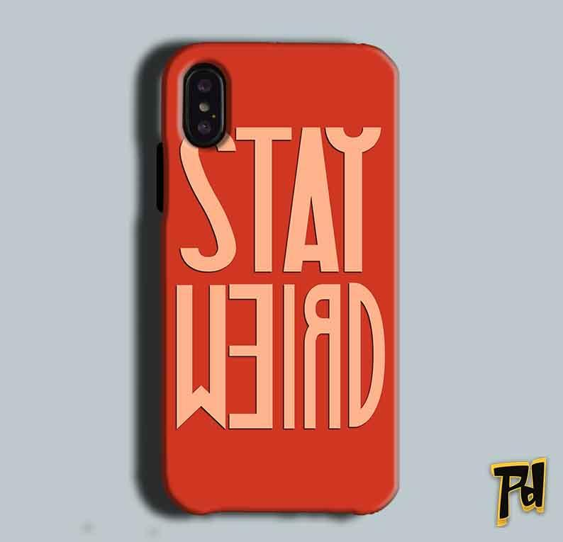Apple iPhone X Mobile Covers Cases Stay Weird - Lowest Price - Paybydaddy.com