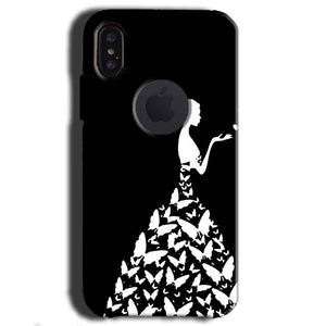 Apple iPhone X With Apple Cut Mobile Covers Cases Butterfly black girl - Lowest Price - Paybydaddy.com