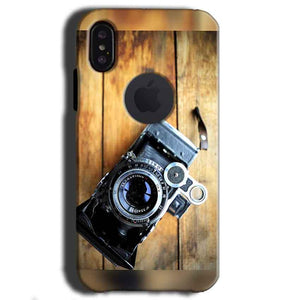 Apple iPhone X With Apple Cut Mobile Covers Cases Camera With Wood - Lowest Price - Paybydaddy.com