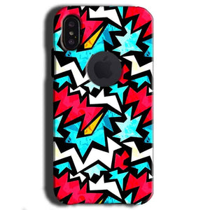 Apple iPhone X With Apple Cut Mobile Covers Cases Colored Design Pattern - Lowest Price - Paybydaddy.com
