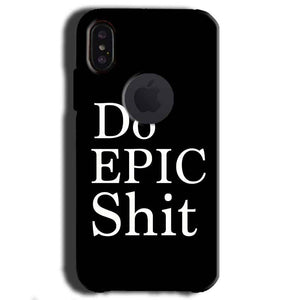 Apple iPhone X With Apple Cut Mobile Covers Cases Do Epic Shit- Lowest Price - Paybydaddy.com