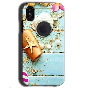 Apple iPhone X With Apple Cut Mobile Covers Cases Pearl Star Fish - Lowest Price - Paybydaddy.com