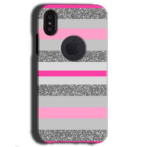 Apple iPhone X With Apple Cut Mobile Covers Cases Pink colour pattern - Lowest Price - Paybydaddy.com