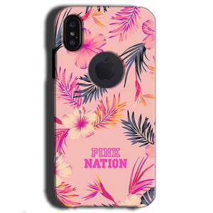 Apple iPhone X With Apple Cut Mobile Covers Cases Pink nation - Lowest Price - Paybydaddy.com