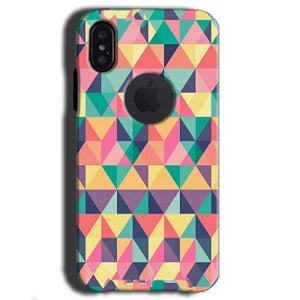 Apple iPhone X With Apple Cut Mobile Covers Cases Prisma coloured design - Lowest Price - Paybydaddy.com