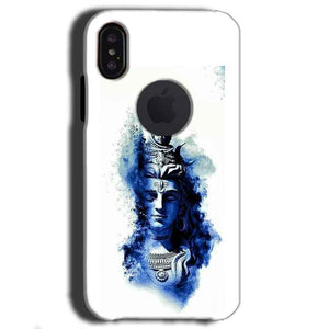 Apple iPhone X With Apple Cut Mobile Covers Cases Shiva Blue White - Lowest Price - Paybydaddy.com