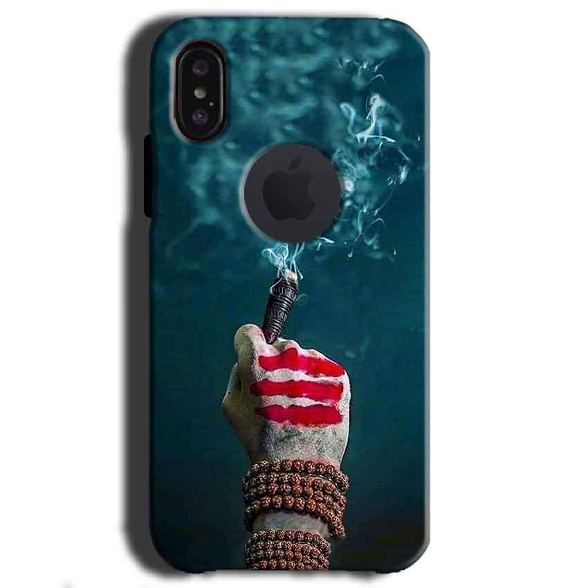 Apple iPhone X With Apple Cut Mobile Covers Cases Shiva Hand With Clilam - Lowest Price - Paybydaddy.com