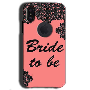 Apple iPhone X With Apple Cut Mobile Covers Cases Mobile Covers Cases bride to be with ring Black Pink - Lowest Price - Paybydaddy.com