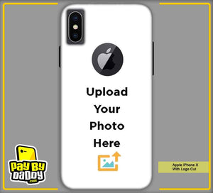 Customized Apple iPhone X With Apple Cut Mobile Phone Covers & Back Covers with your Text & Photo