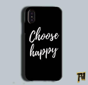 Apple iPhone X Mobile Covers Cases Choose happy - Lowest Price - Paybydaddy.com
