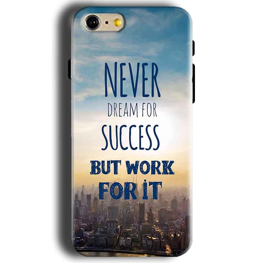 Apple iphone 5 5s Mobile Covers Cases Never Dreams For Success But Work For It Quote - Lowest Price - Paybydaddy.com
