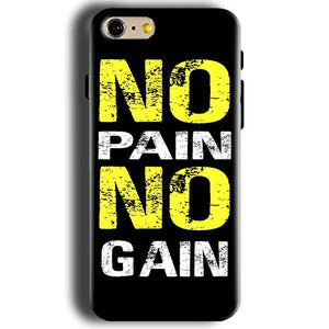 Apple iphone 5 5s Mobile Covers Cases No Pain No Gain Yellow Black - Lowest Price - Paybydaddy.com