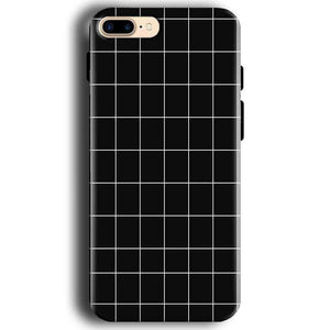 Apple iphone 7 Mobile Covers Cases Black with White Checks - Lowest Price - Paybydaddy.com