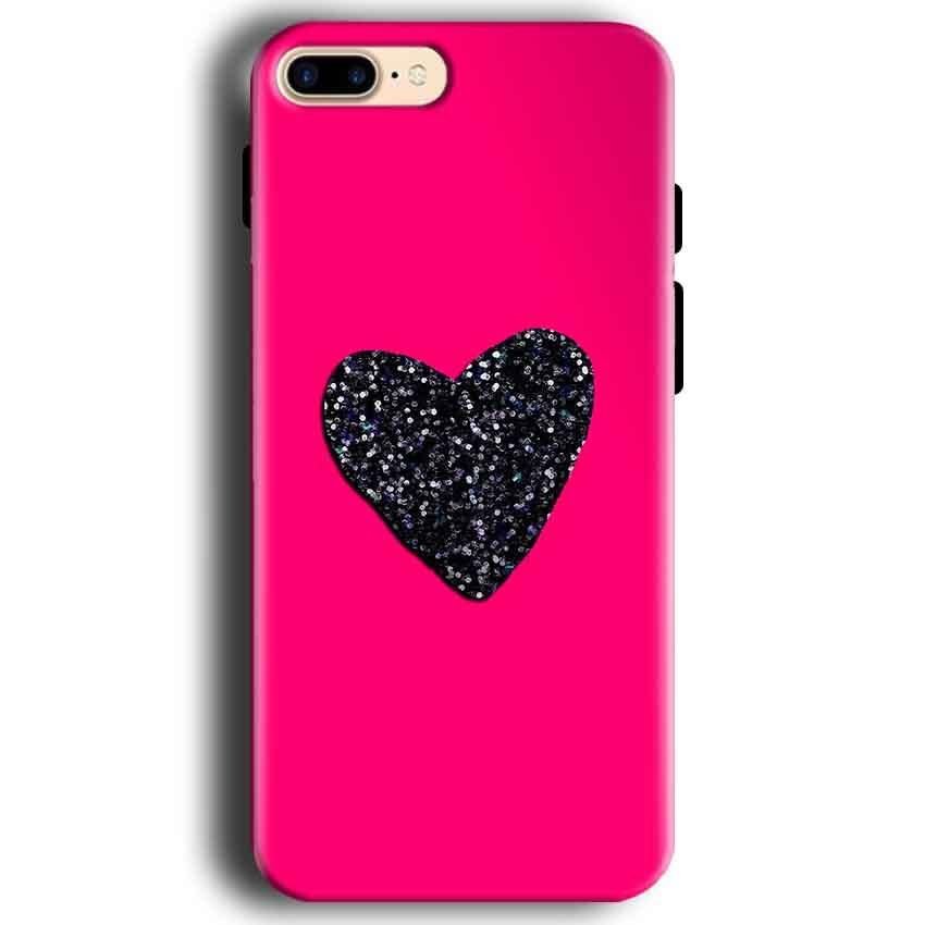 Apple iphone 7 Mobile Covers Cases Pink Glitter Heart - Lowest Price - Paybydaddy.com