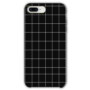 Apple iphone 7 Plus Mobile Covers Cases Black with White Checks - Lowest Price - Paybydaddy.com