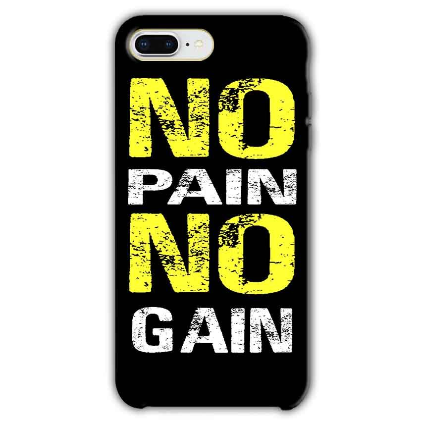 Apple iphone 7 Plus Mobile Covers Cases No Pain No Gain Yellow Black - Lowest Price - Paybydaddy.com