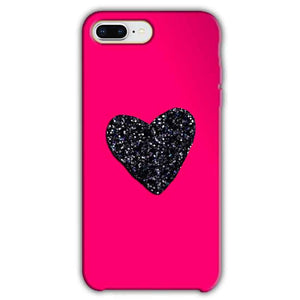 Apple iphone 7 Plus Mobile Covers Cases Pink Glitter Heart - Lowest Price - Paybydaddy.com