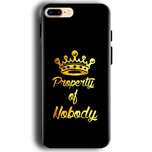 Apple iphone 7 Mobile Covers Cases Property of nobody with Crown - Lowest Price - Paybydaddy.com